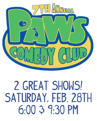 PAWS Comedy Club - February 28, 2015
